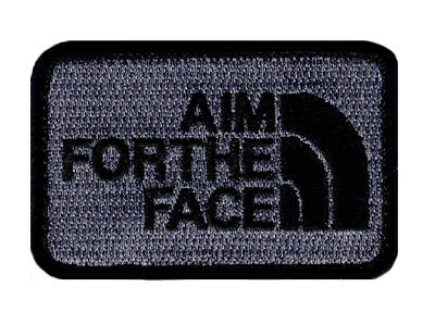 AIM FACE Embroidered Morale Hook Fastener patch (3.0 x 2.0 MTA3)
