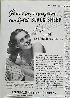 1941 American Optical women's Calobar sunglasses guard eyes from Black Sheep ad