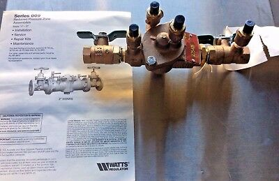 Watts Series 009 Backflow Preventer Reduced Pressure Zone Assembly 1/2""