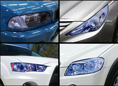 Car Sticker Tint Vinyl Film Decal Sheet For Smoke Fog Light HeadLight Taillight