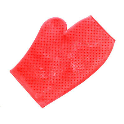Lincoln Massage Unisex Horse Care Grooming Mitt - Red One Size