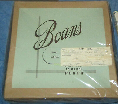 Rare! 1960's Boans Department Store Wa Antique Large Hat Box With Layby Slip!