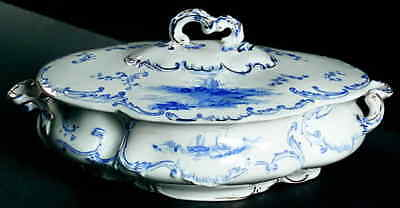 Ridgway DELFT BLUE Oval Covered Vegetable Bowl 2125849