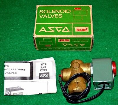 """Azco Red Hat 8223A3 10.5 Watts 1/2"""" Pipe Air,Gas,Water,LT.Oil Solenoid Valve New"""