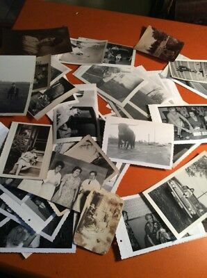 "Lot of 56 Original B&W Found Old Photos 40's,50's,60's Nice Lot 5""x3 1/2"""