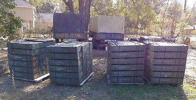 Military 120mm Ammunition AMMO Cans in Grade A Condition Emergency Storage NICE