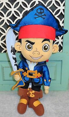 Disney Store Jake and the Never Land Pirates Captain Jake Plush Doll 12""