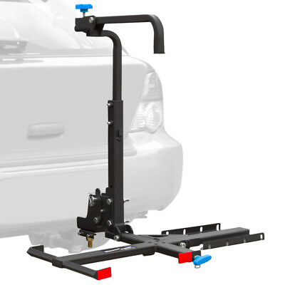 Silver Spring Ball-Mount Hitch Manual Wheelchair Carrier with Tilt Platform