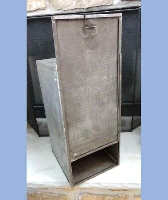antique large HOOSIER CABINET DRAWER BREAD BOX TIN early primitive metal