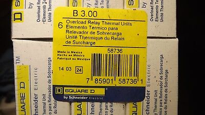 LOT OF 3.....Square B3.00 Thermal overload