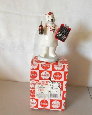 Iob Coca-Cola Polar Bear Figurine ~Always A Nurse
