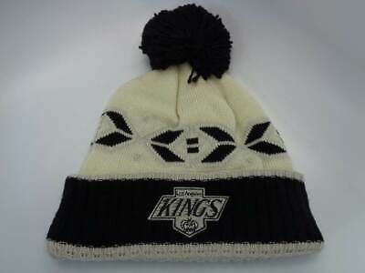 44c95df5a2c LOS ANGELES KINGS CCM NHL Cuffed Knit Pom Toque Beanie Hat Cap OSFM ...