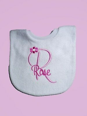 Personalised Baby Bib New Baby Twins/ Christening/  Name Day Embroidered GIFT