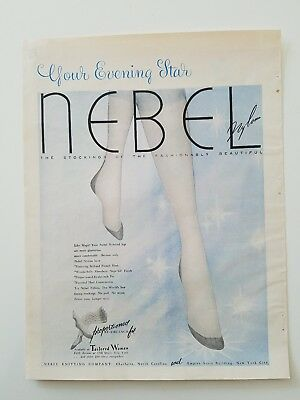 1953 women's NEBEL nylon Hosiery stocking sure eveningstar legs ad