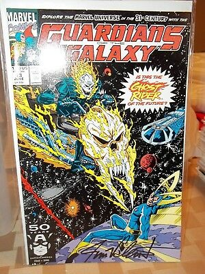 1991 GUARDIANS OF THE GALAXY 13 SIGNED JIM VALENT 1st Cosmic Ghost Rider Thanos