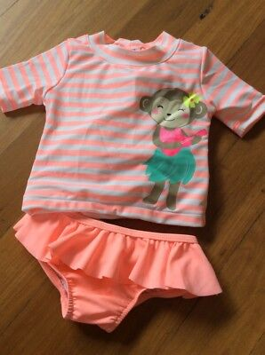 1 X Carters Carter's Swim Suit Swimmers Bathers 12 Months Baby Girl Brand New