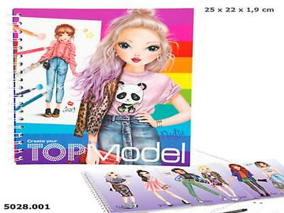 Top Model 5028_A - Create Your Top Model, Malbuch, Depesche, Neu