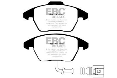 EBC Bluestuff Front Brake Pads for Audi A1 1.0 Turbo (95 BHP) (2015 on)