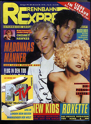 Rennbahn Express Nr.7/8 von 1991 Roxette, Billy Idol, Sisters of Mercy - TOP Z1