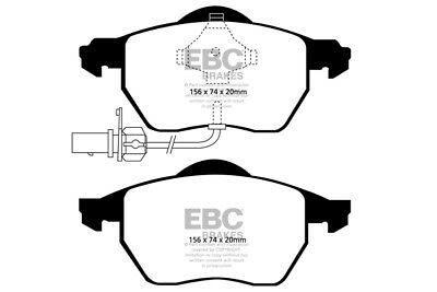 EBC Yellowstuff Front Brake Pads for Audi A4 Cabrio 3 (2002 > 06)