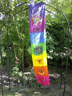 Chakra Drop Banner - Rainbow Colours - Bali Batik Wall Hanging