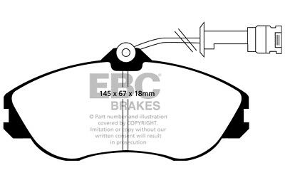 EBC Yellowstuff Front Brake Pads for Audi Coupe 2.8 (91 > 93)