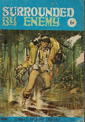 No 584 W34931 COMBAT PICTURE LIBRARY  SURROUNDED BY ENEMY