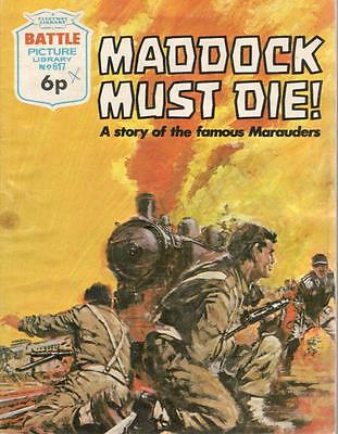 1972 No 617 33431 Battle Picture Library  MADDOCK MUST DIE !