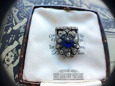 Rare Antique Art Deco Drgm Knoll & Pregizer Diamond Paste 935 Silver Dress Clip