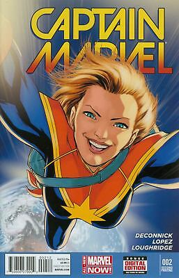Captain Marvel Vol 7 #2 Cover C 2nd Ptg David Lopez Variant Cover