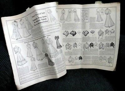 antique victorian  DELINEATOR/ BUTTERICK WOMEN'S  FASHION PATTERN CATALOG