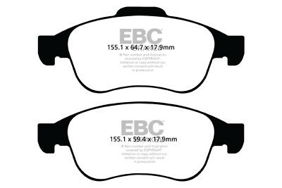 EBC Yellowstuff Front Brake Pads for Dacia Dokker 1.6 (2012 on)