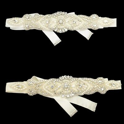 Bridal Belt Rhinestone Sash Crystal Wedding Dress Accessories Ribbon