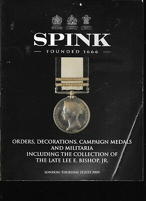 Spink ORDERS DECORATIONS CAMPAIGN MEDALS & MILITARIA Auction London 23 July 2009