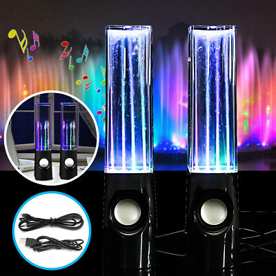 2pcs LED Dancing Water Fountain Light Wireless Bluetooth Stereo Speakers