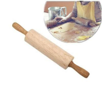 Natural Wooden Rolling Pin Cookies Pie Cakes Dough Roller Kitchen Cooking Tool C