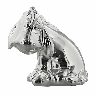 Disney Winnie The Pooh & Eeyore Silver Plated Money Bank
