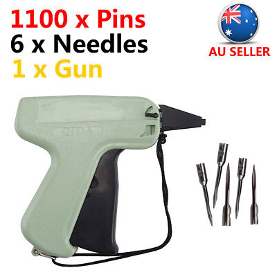 Clothes Garment Price Label Tagging Tags Gun Machine 6 Steel Needle+1100 Barbs