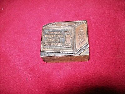Vintage Wood Printers Block, Uneeda Premium Salted Flake Crackers.