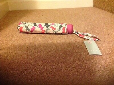 Radley Ladies Cream And Pink Doodle Dog Umbrella Brand New With Tags