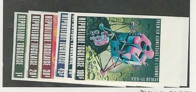 Togo, Postage Stamp, #674-7, C107-8 Imperf Mint NH, 1969 Space