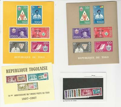 Togo, Postage Stamp, #406a (2 Colors), 617-22, C82a-83 Mint NH, 1961-7 (p)