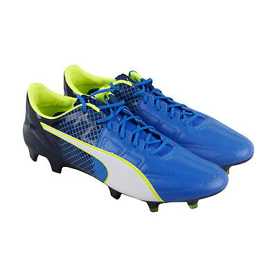 75e3b866c015 PUMA EVOSPEED 1.5 Fg Mens Blue Leather Athletic Soccer Cleats Shoes ...
