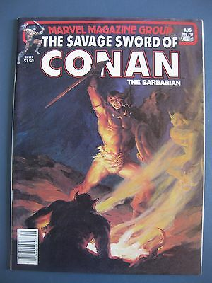 The Savage Sword Of Conan The Barbarian #79 August 1982 Marvel Comics