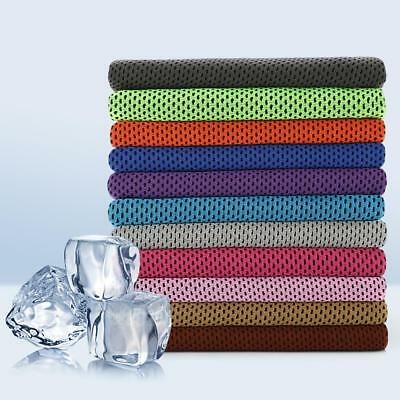 Outdoor Instant Ice Cooling Towel For Jogging Golf Fitness Cycling Sport SS US #
