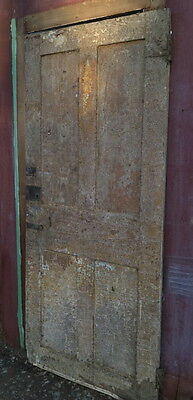 Federal 18th or early 19th century four panel exterior door bead board panels