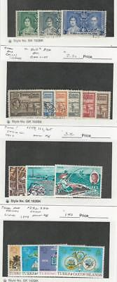 Turks & Caicos, Postage Stamp, #75-77, 80//85A Used, 162, 165, 293-6 Mint NH