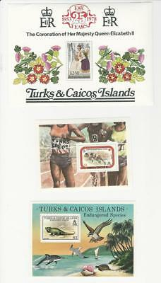 Turks & Caicos, Postage Stamp, #346, 359, 385 Mint NH, 1977-78 (p)