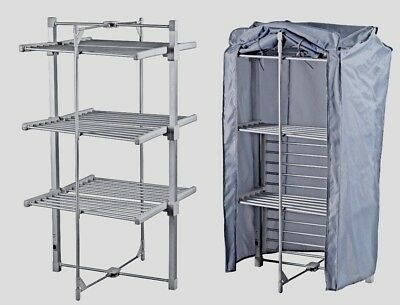 NEW  3-Tier Heated Tower Airer Economic & Free Cover Pack  Folds for Storage