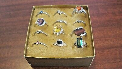 Lot Of12 Vintage Rings Jewelry Different Sizes From A Local Estate